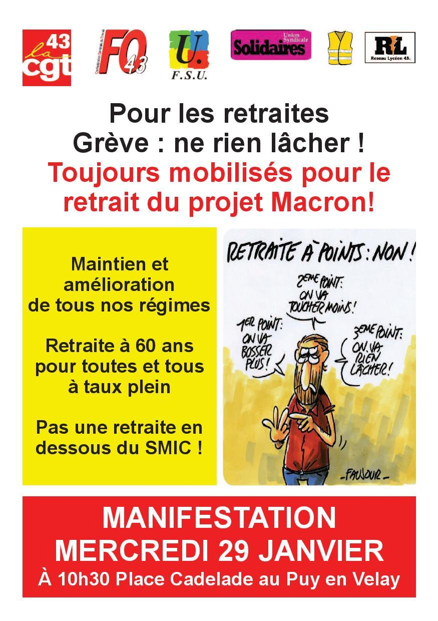 Tract intersyndical 29 janvier page 001